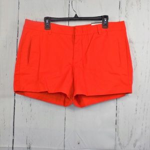 Stylus Orange Cotton Chino Shorts Size 16 NWT